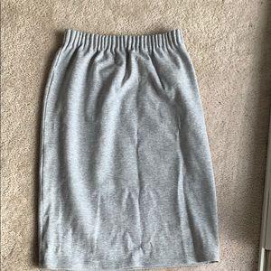 Halogen Grey sweatsuit material skirt sz 1
